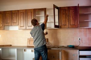 Demontage der alten Küche
